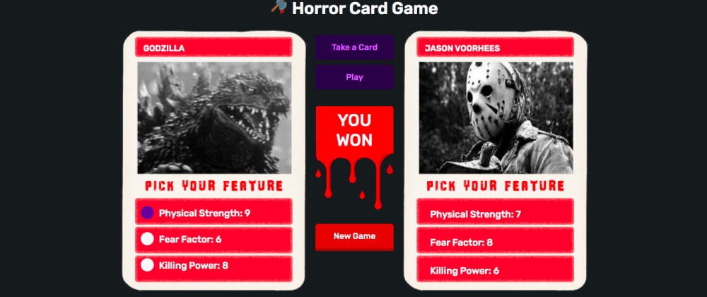 Cover image for Horror Card Game