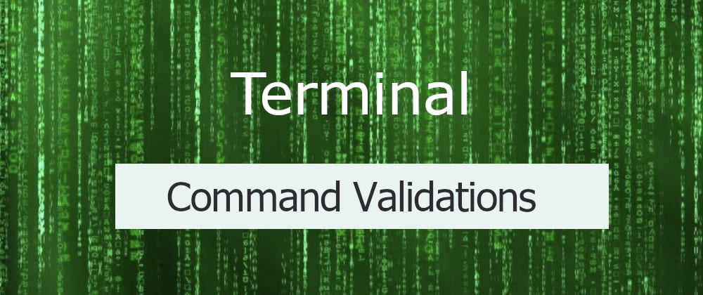 Cover image for Command validations with ZSH