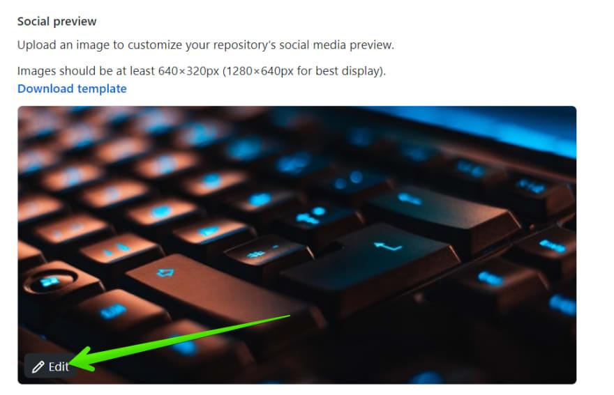 Repo settings social preview
