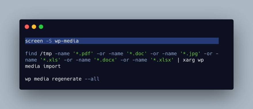 Code in terminal