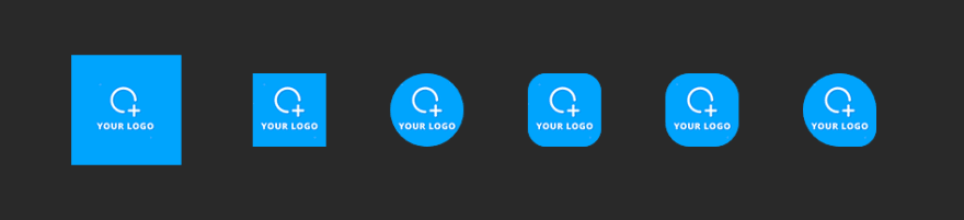 Android icon shapes