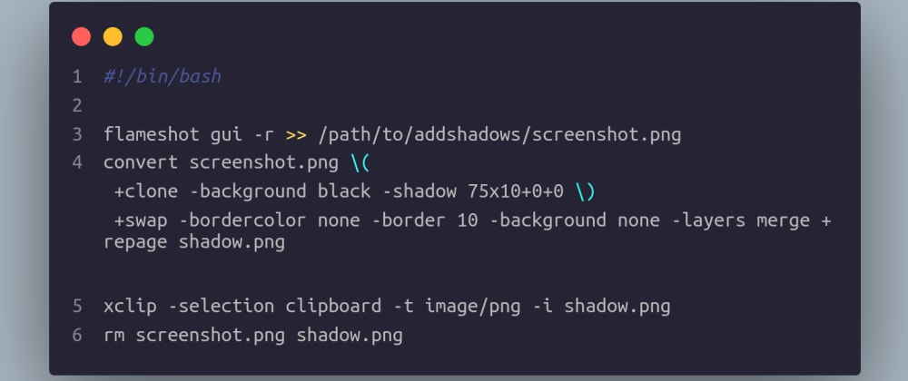 Cover image for How to make super duper shadows for your screenshots
