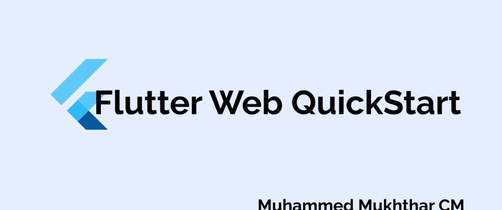 Cover image for Flutter Web Quickstart