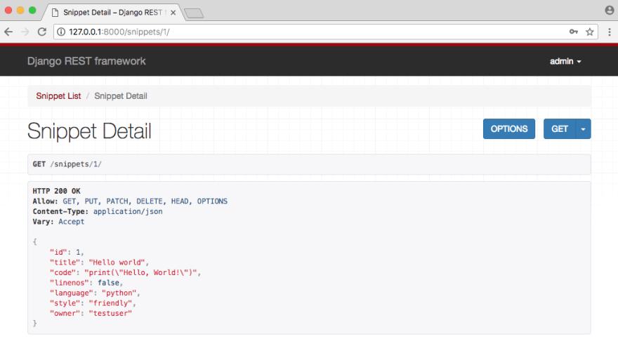 API Detail Admin