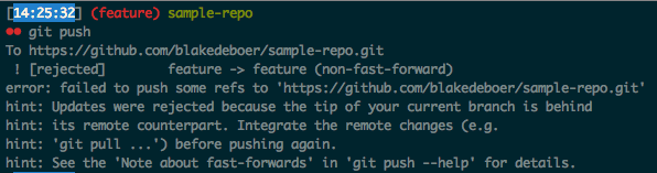 Git push error
