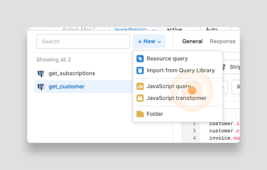New JS Query