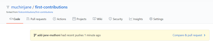 compare your pull request