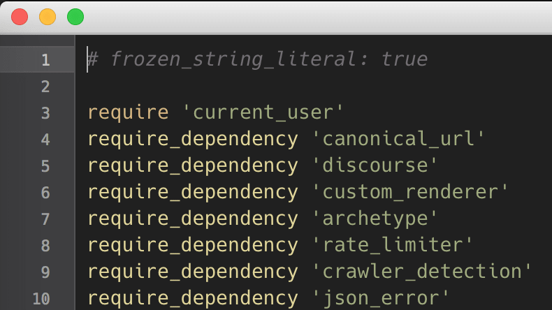 A Ruby on Rails file in TextMate 2
