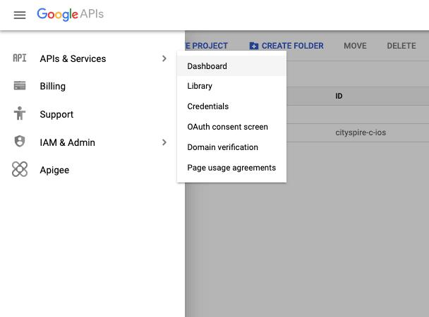 API dashboard