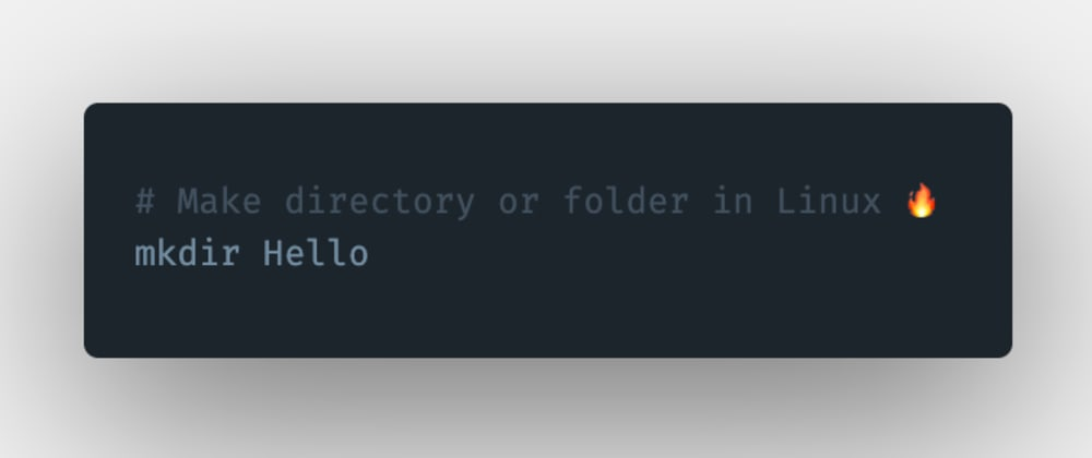Cover image for How to create a directory or a folder in Linux?