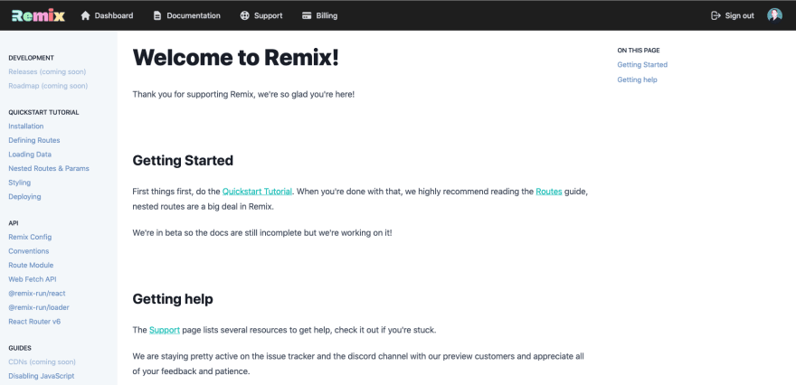 Remix Dashboard