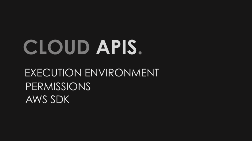 Cloud APIs