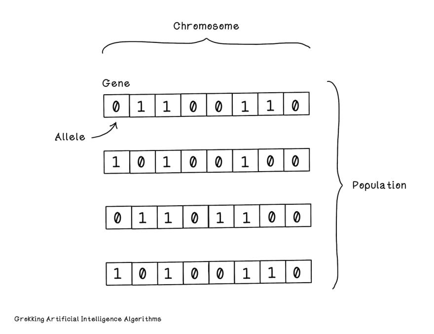 From Chapter 4: Evolutionary algorithms in Grokking Artificial Intelligence Algorithms