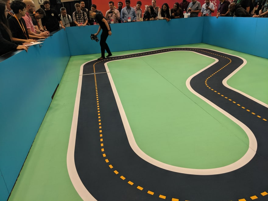 The DeepRacer track at AWS Summit NYC