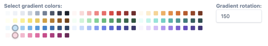 The gradient interface