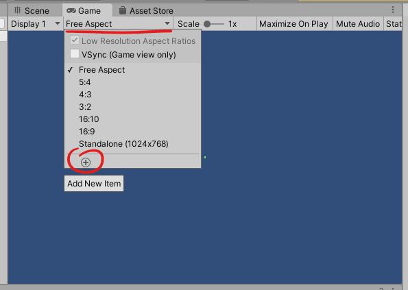 14-Unity_Game_view_aspect_configuration_menu