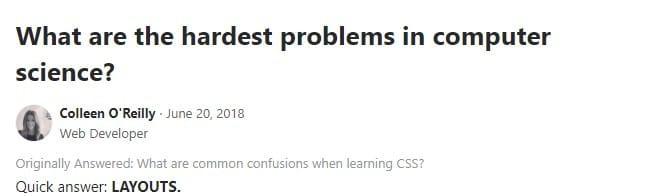 CCS Quora Answer