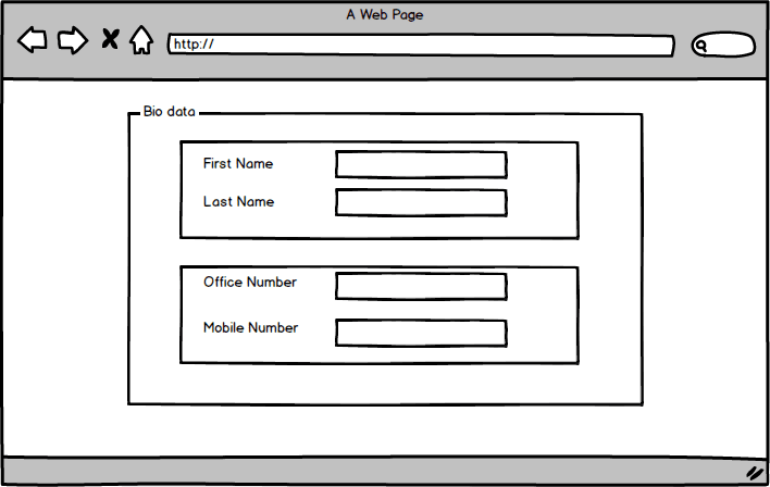 An form layout