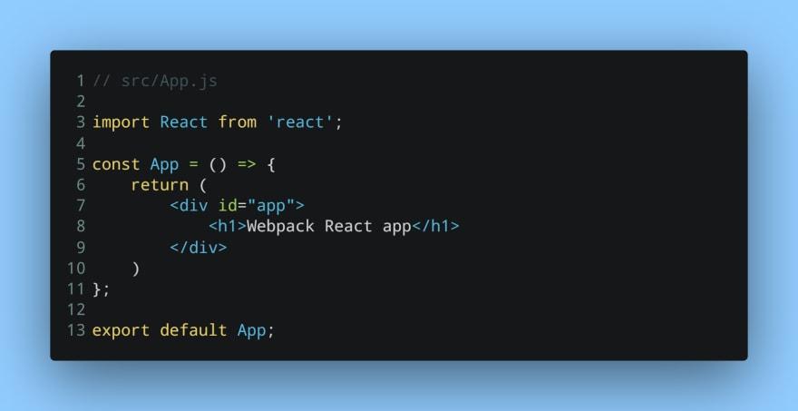 Simple App component
