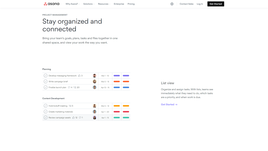 Asana best productivity tools for programmers