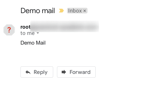 Image of a mail from Gmail