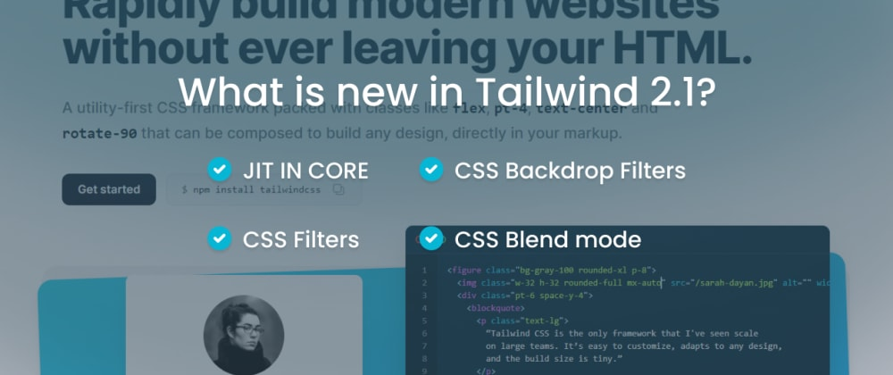 Cover image for What is new in Tailwind CSS 2.1?