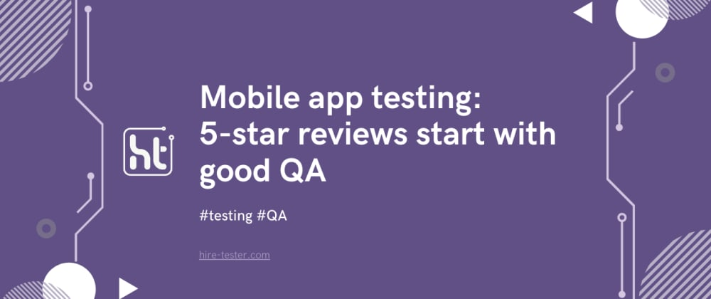Cover image for Mobile apps testing