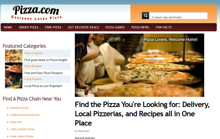 pizza.com screenshot