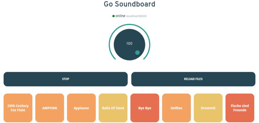 Go Soundboard Webinterface