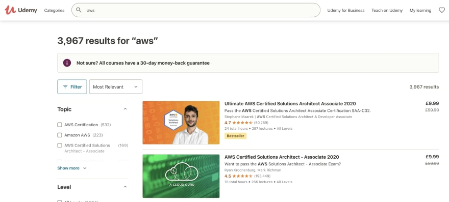 Udemy AWS Exams