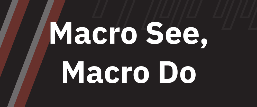 Cover image for Macro See, Macro Do
