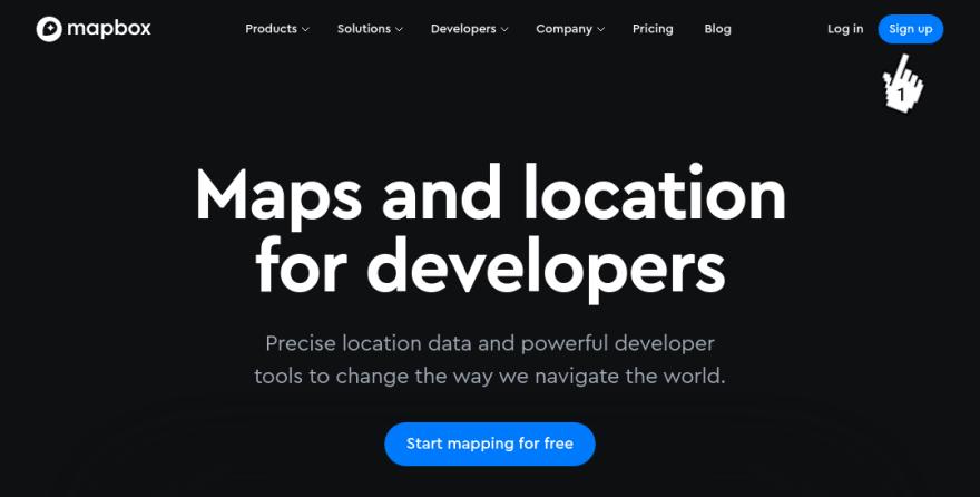 Mapbox - Home page