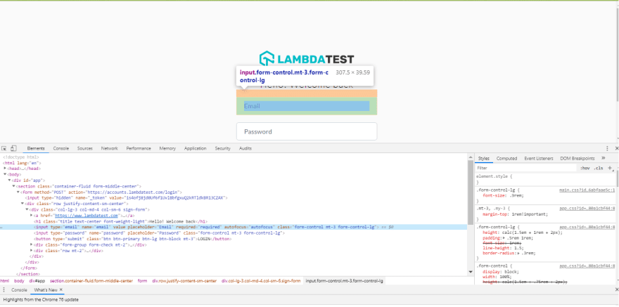 lambdatest login