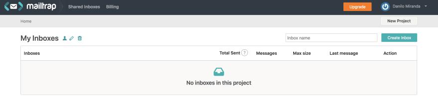 Mailtrap inboxes