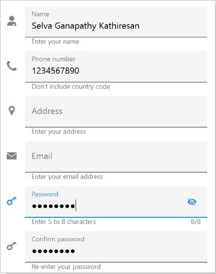 Xamarin.Forms WPF Text Input Layout
