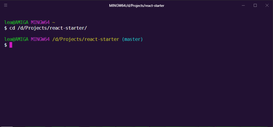 Hyper terminal featuring git bash on Windows