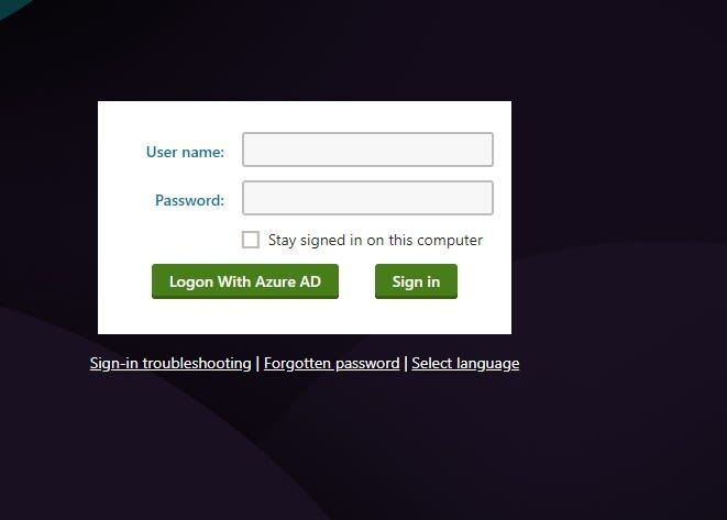 Kentico logon form with additional Azure AD logon button