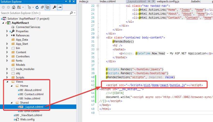 Setting up a React Environment for ASP NET MVC - DEV