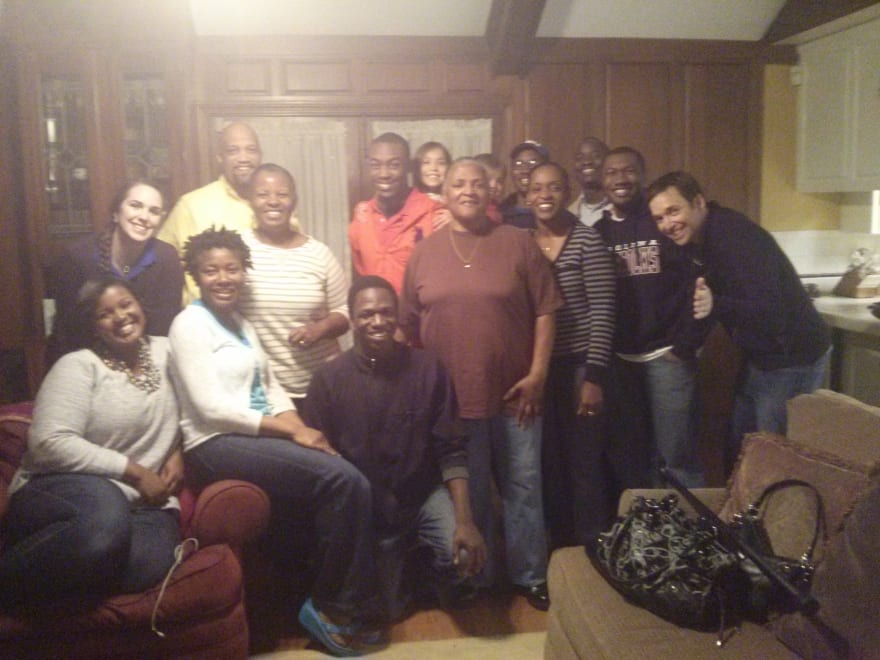 First day in Baton Rouge with Friends from Church. Jonathan is on far right