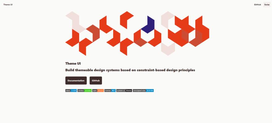 Theme UI landing page