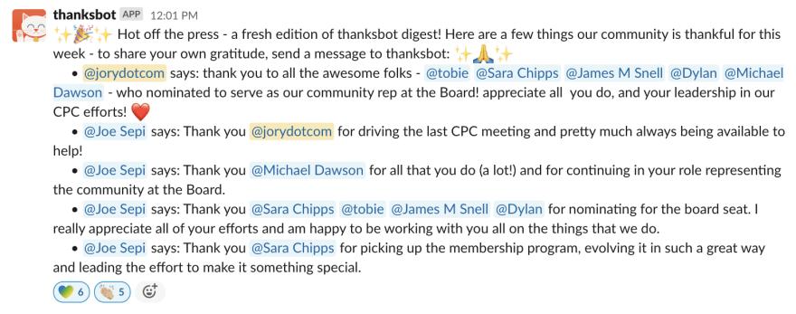 thanksbot sample text