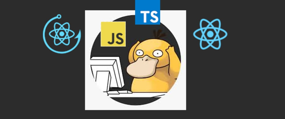 "Cover image for React + Typescript === ""headache"""