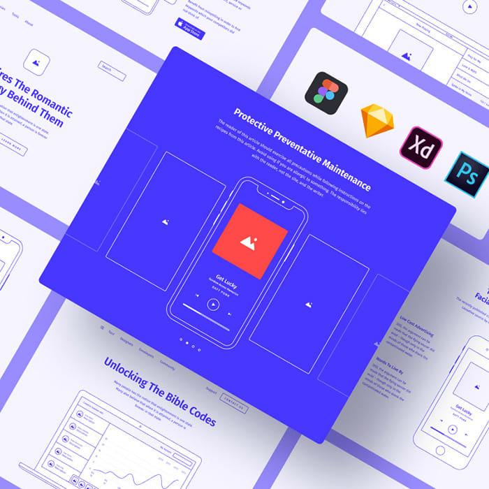 Method Wireframe Kit 2 Sketch Template