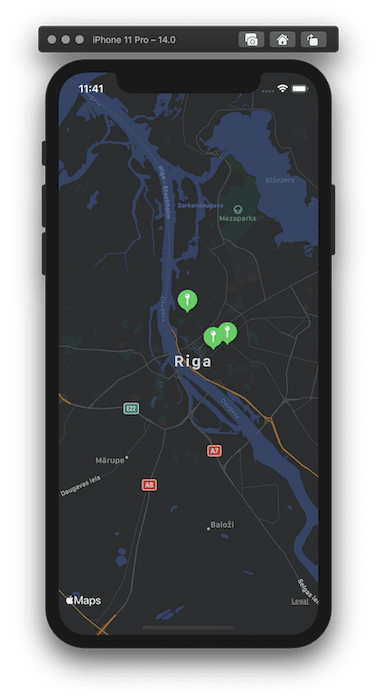 SwiftUI Map view