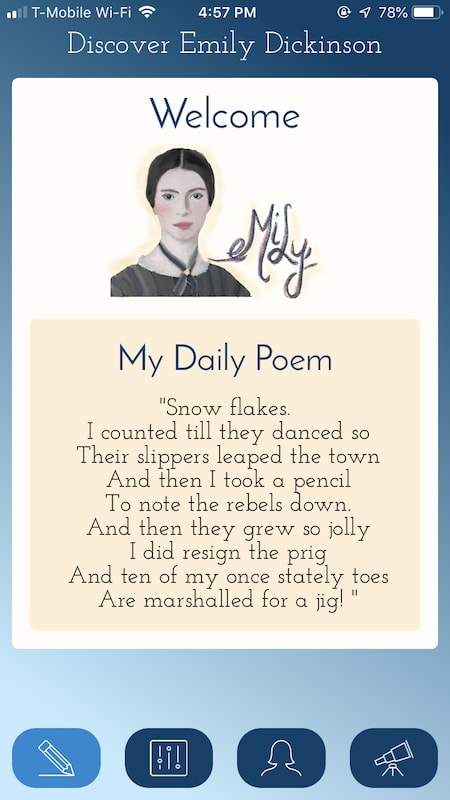 daily poem screen