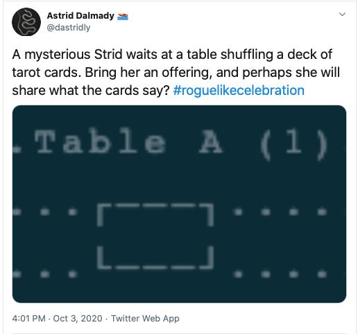 Tweet advertising tarot readings