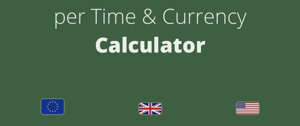 Cover image for React PWA: Salary per time calculator