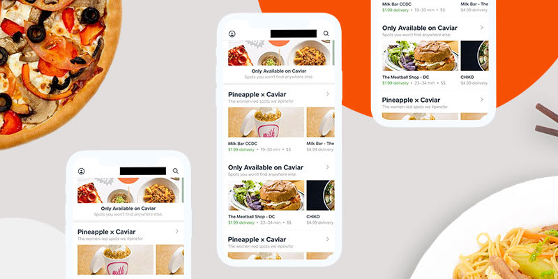 Food Ordering Apps like Cavier