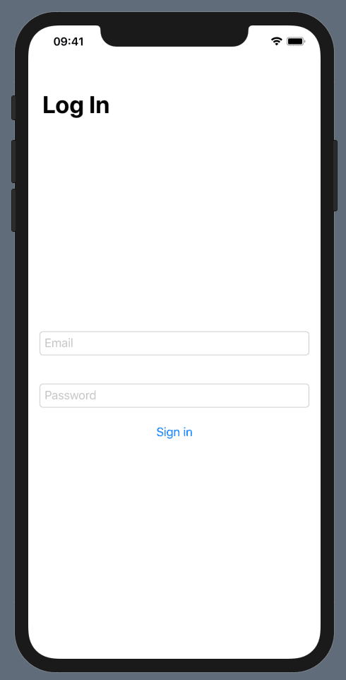 A plain login screen written in SwiftUI