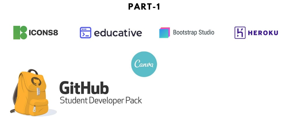 """Cover image for Top """"GitHub Student Developer Pack's"""" Tools[Part-1]"""